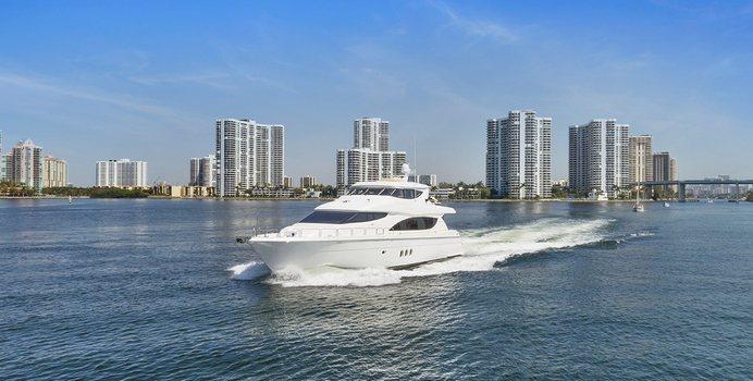 Pneuma yacht charter Hatteras Motor Yacht