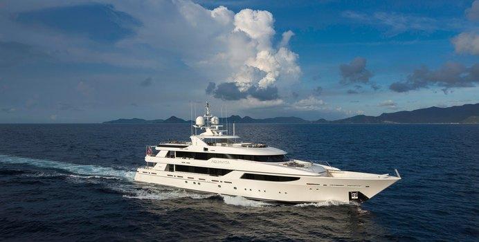 Sheherazade charter yacht interior designed by Donald Starkey