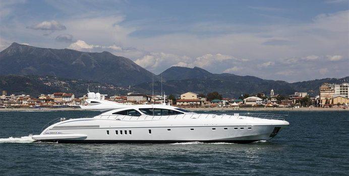 Crazy yacht charter Overmarine Motor Yacht