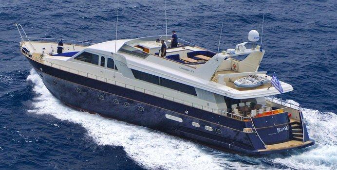 Blu Sky yacht charter Canados Motor Yacht