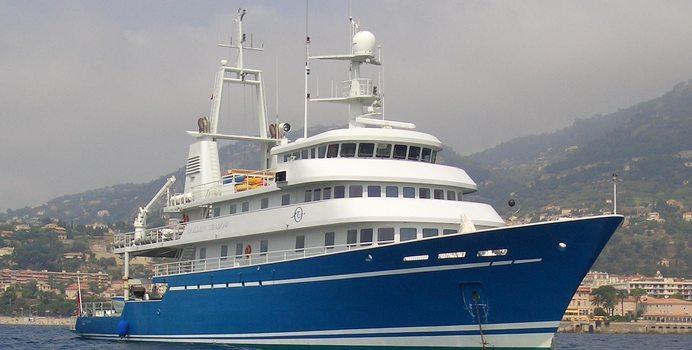 Blue Shadow yacht charter Campbell Shipyards Motor Yacht