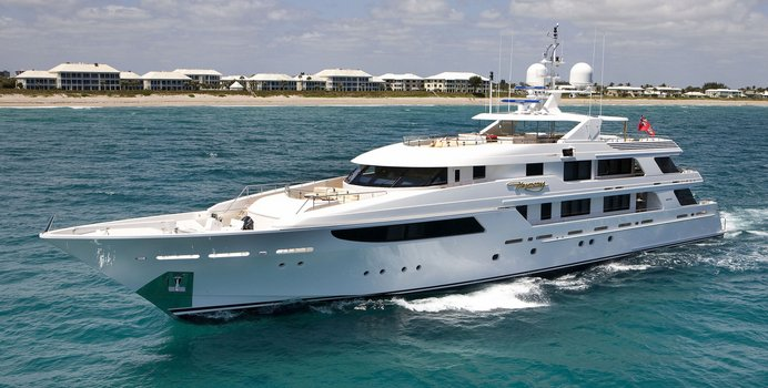 Gigi charter yacht exterior designed by Donald Starkey