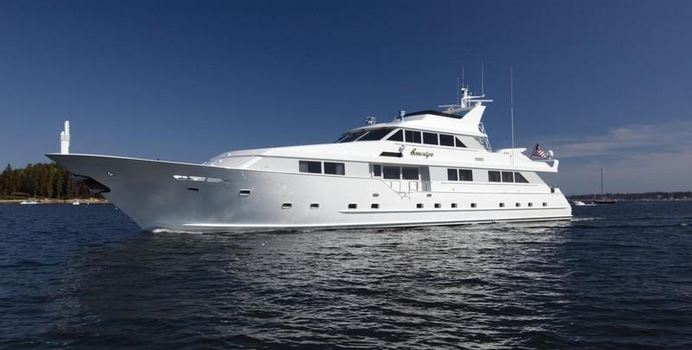 Sovereign Lady charter yacht exterior designed by Broward