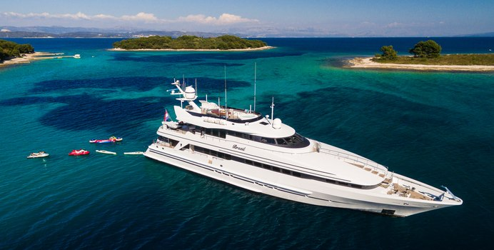 Brazil charter yacht interior designed by Art Line & Claudette Bonville