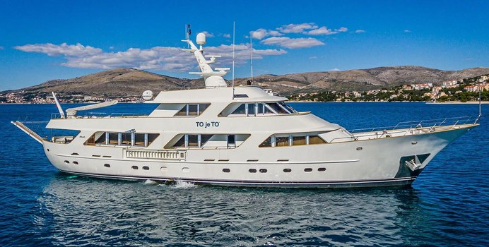 To Je To charter yacht exterior designed by Benetti