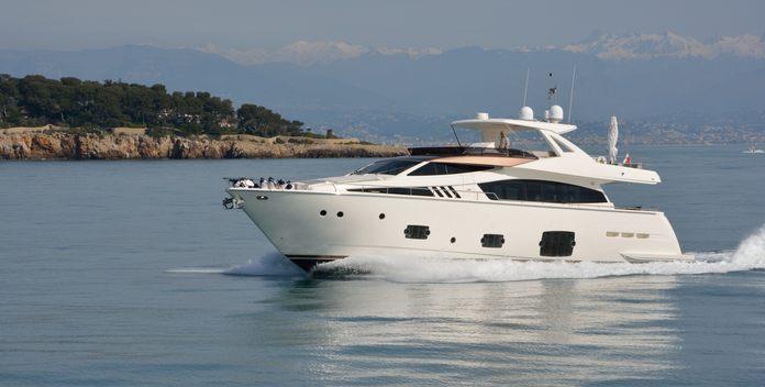 Columbus A yacht charter Ferretti Yachts Motor Yacht
