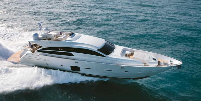 Doris V yacht charter Pershing Motor Yacht