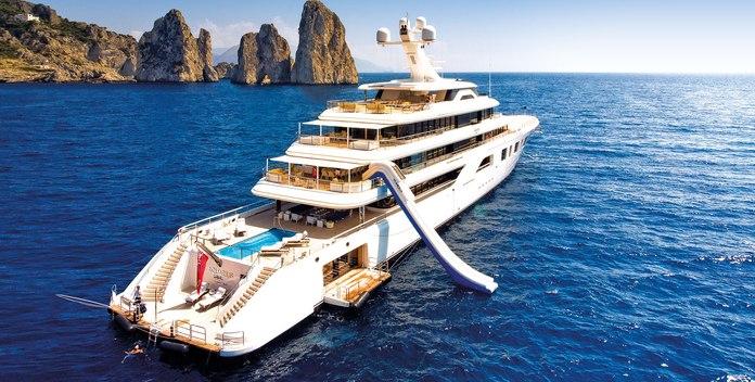 Aquarius yacht charter Feadship Motor Yacht