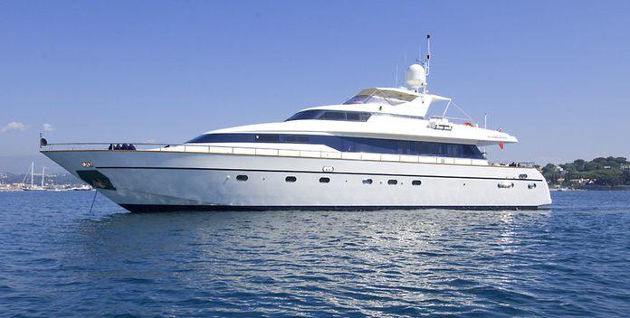 Indulgence of Poole yacht charter Overmarine Motor Yacht