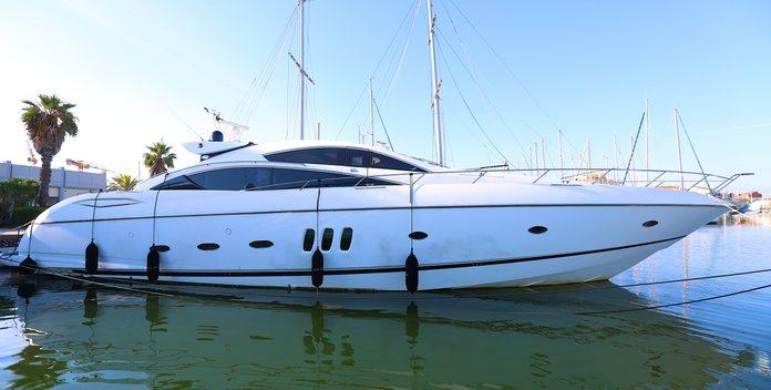 Black Zen yacht charter Sunseeker Motor Yacht
