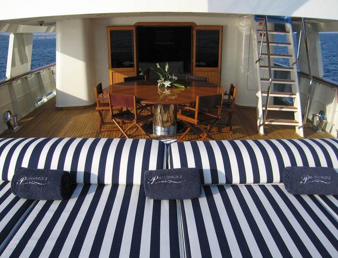 Aft deck sun beds
