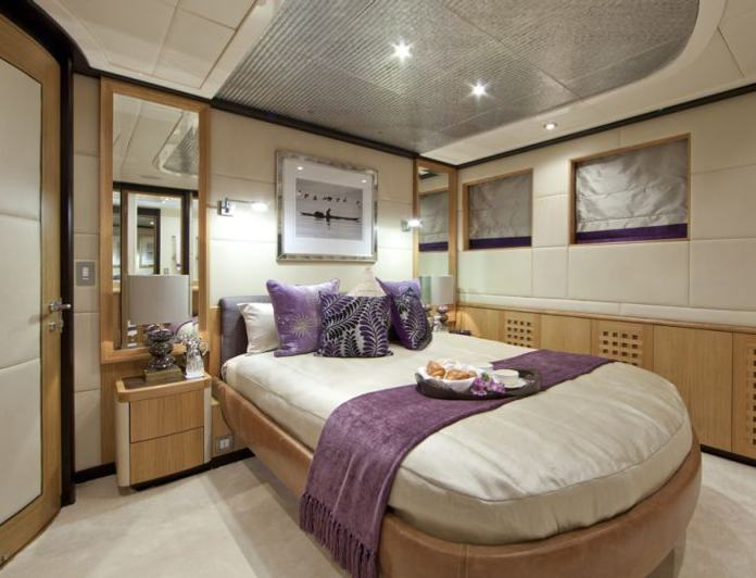 Purple Guest Stateroom