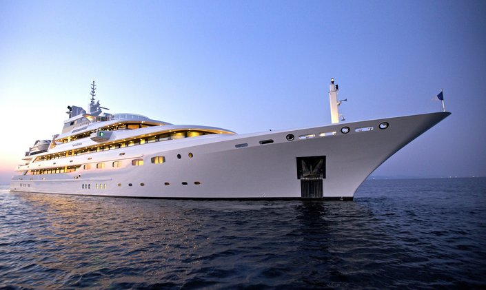 83m superyacht O'MEGA now open for early bookings on Caribbean yacht charters over the holidays