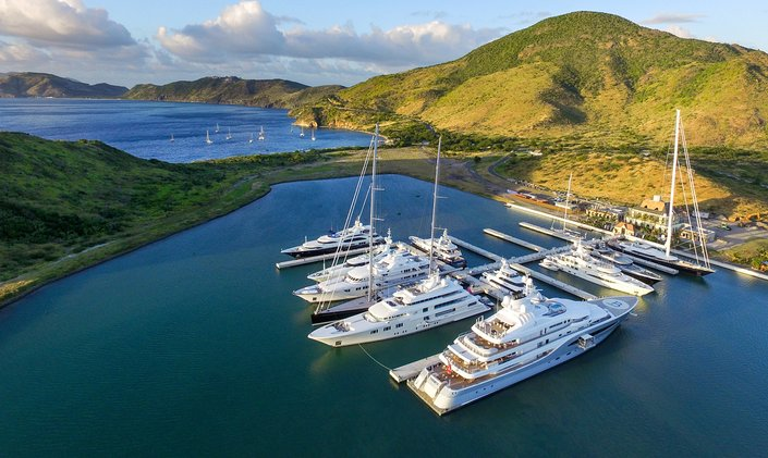 St Kitts harbour opens six new large superyacht berths