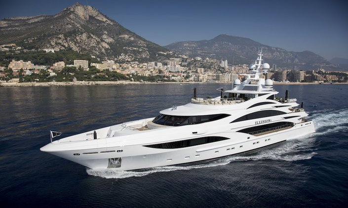 Croatia yacht charters available with 58m superyacht 'Illusion V'