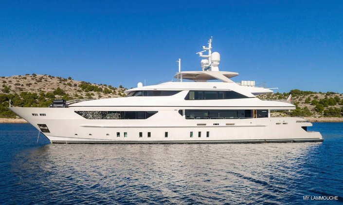 Recently refitted 44m motor yacht LAMMOUCHE now available for charter in Croatia