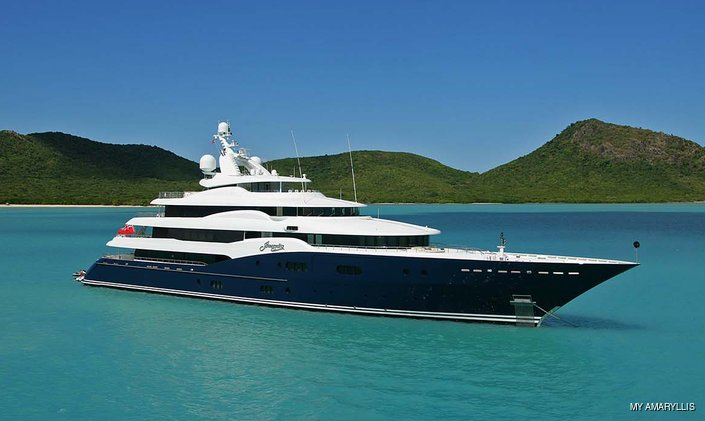 Charter luxury yacht AMARYLLIS in the UK and Channel Islands this summer.