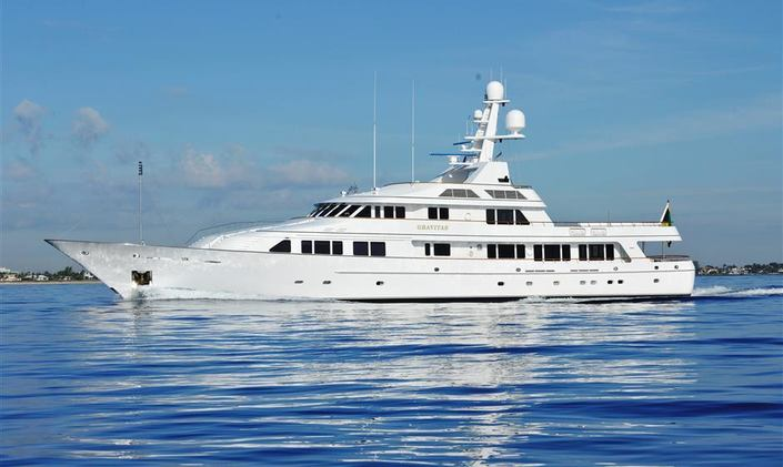 M/Y GRAVITAS Reduces Rates for Jan & Feb