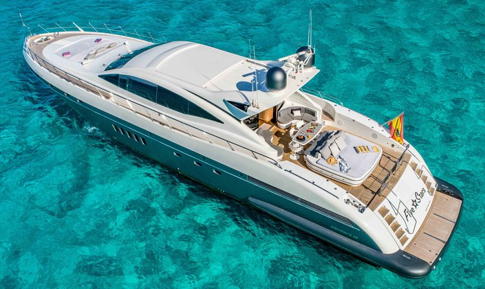 Ibiza charter special: reduced rate for motor yacht FIVE STARS