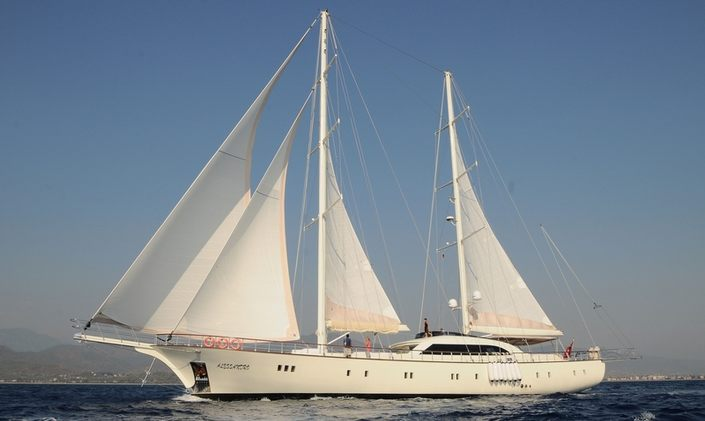Charter Yacht ALESSANDRO at anchor in Turkey