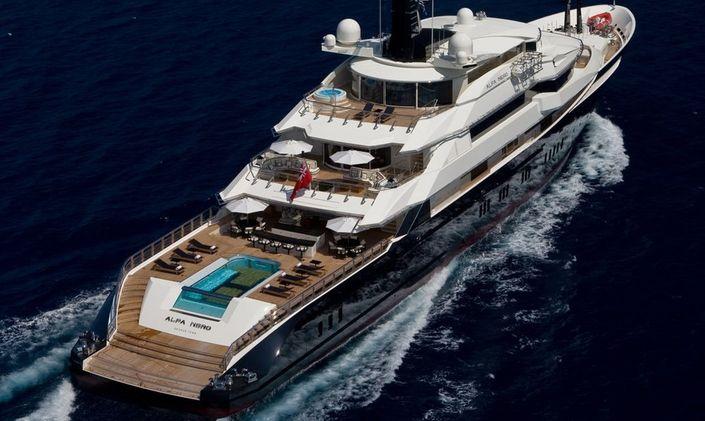 ALFA NERO cruising in the Caribbean