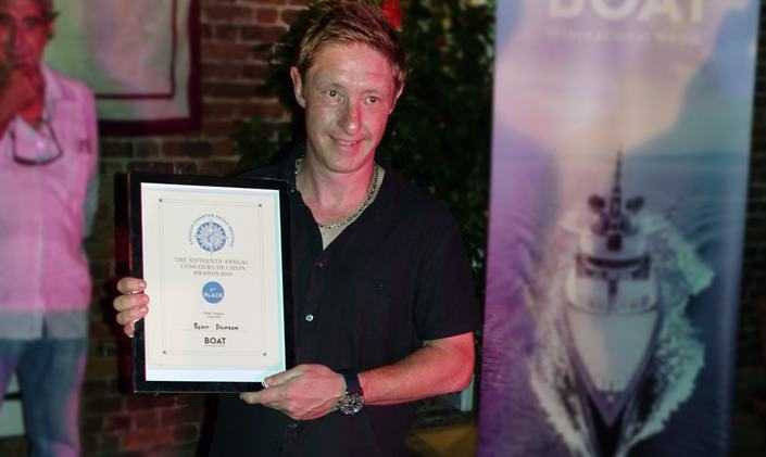 M/Y INCEPTION Chef Takes Top Prize