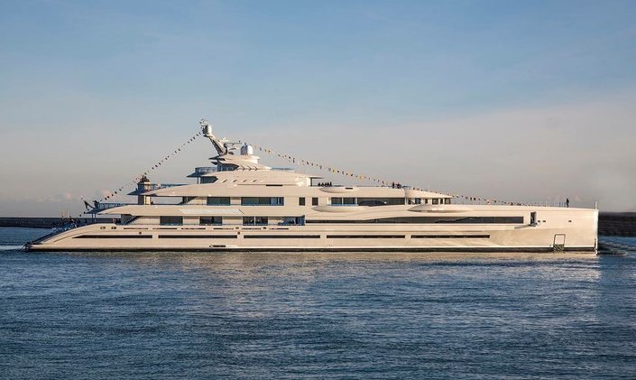 107m Benetti superyacht Project FB 277 hits the water