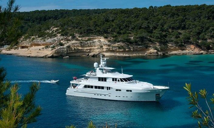 Luxury yacht Christina G at anchor