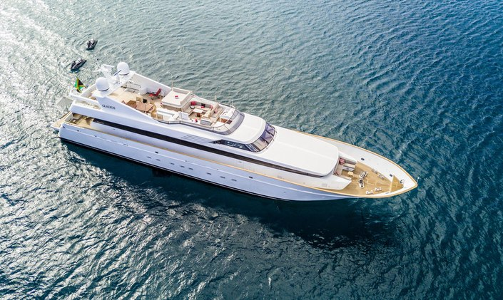 Luxury motor yacht GLADIUS available for charter in the Bahamas this summer