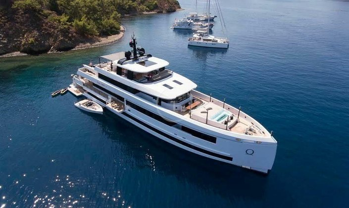 Ultra modern 45m AQUARIUS newly available for charter in Turkey this summer