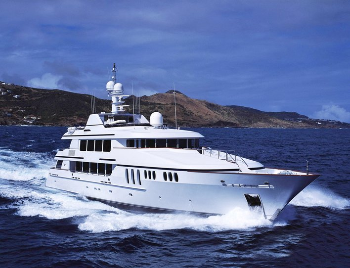 superyacht CLAIRE cruising on a Bahamas yacht charter