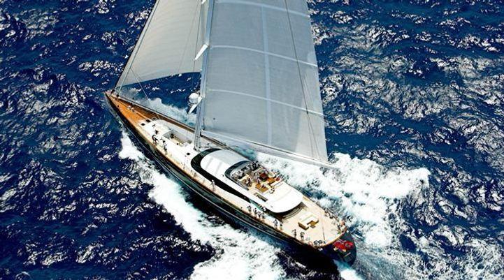 Prana Yacht Aerial View