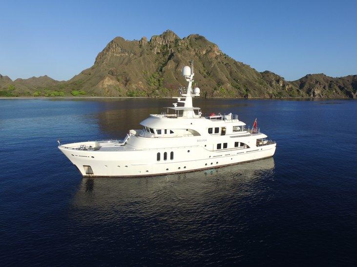 luxury yacht BELUGA cruising on a Papua New Guinea yacht charter