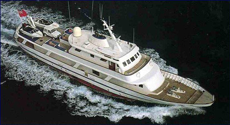 Trafalgar Yacht Running Shot