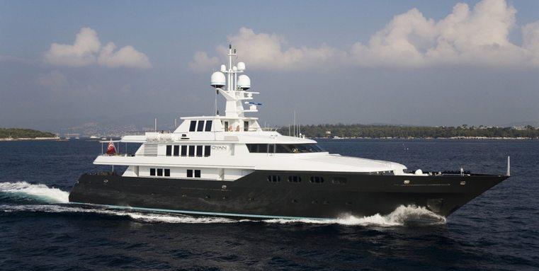 luxury yacht CYAN cruising on a Caribbean yacht charter