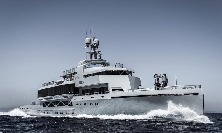 85m explorer yacht BOLD offers exclusive 4-week charter opportunity in the Mediterranean