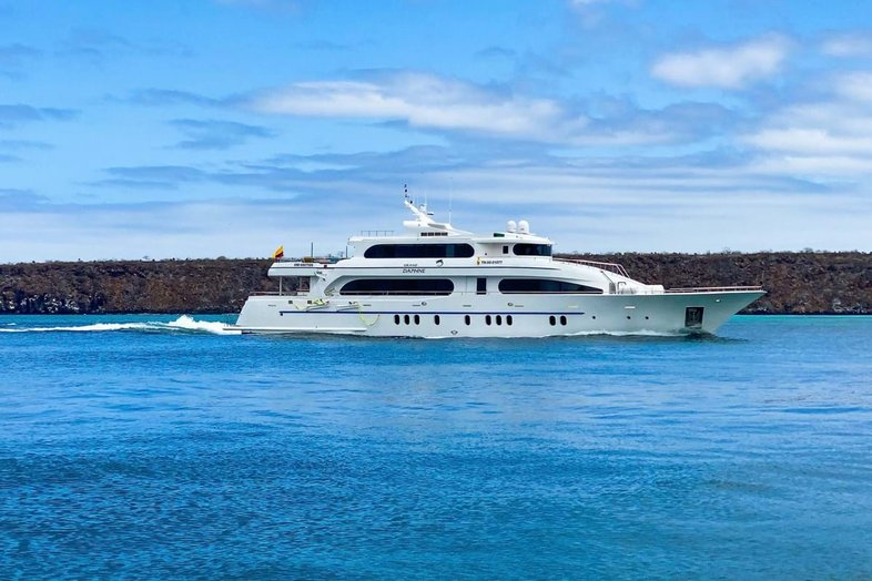 Charter yacht Grand Daphne on water
