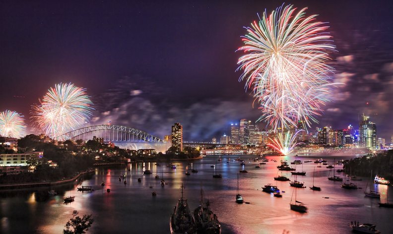 Watch Sydney's New Year's Fireworks on M/Y SAHANA