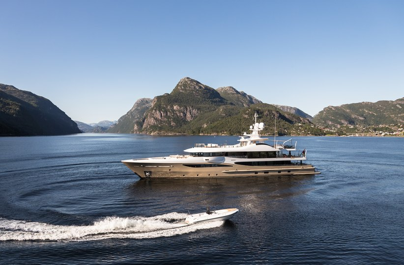superyacht LILI with tender on a private yacht charter in Norway