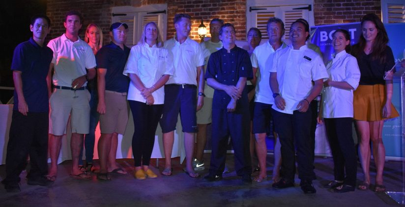 The participants of the Antigua Charter Yacht show chef competition lined up together