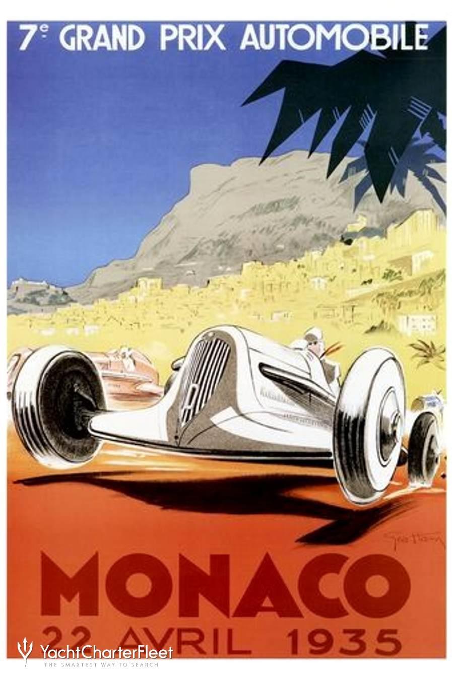 Monaco Grand F1 Grand Prix poster
