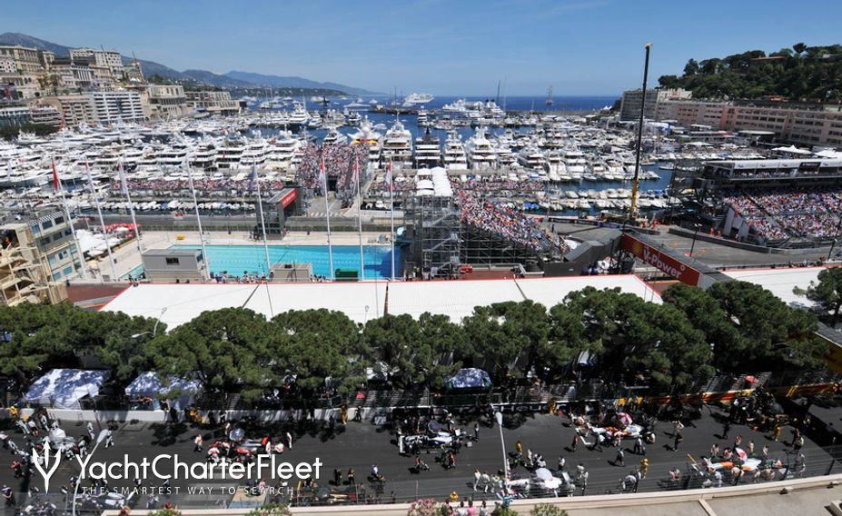 View of Monaco before race