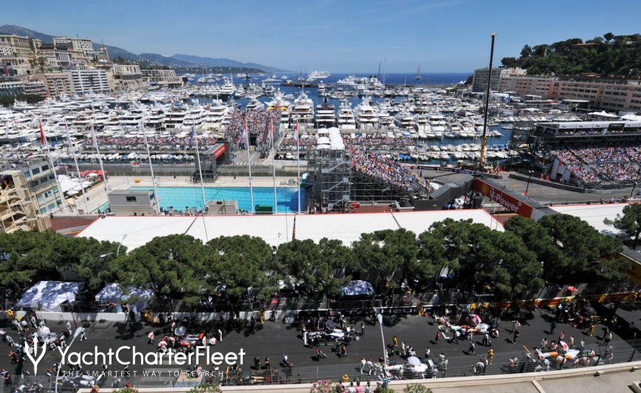View of Monaco before race