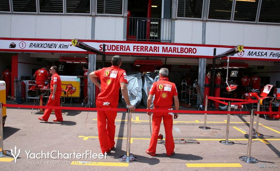 Ferari F1 team garage