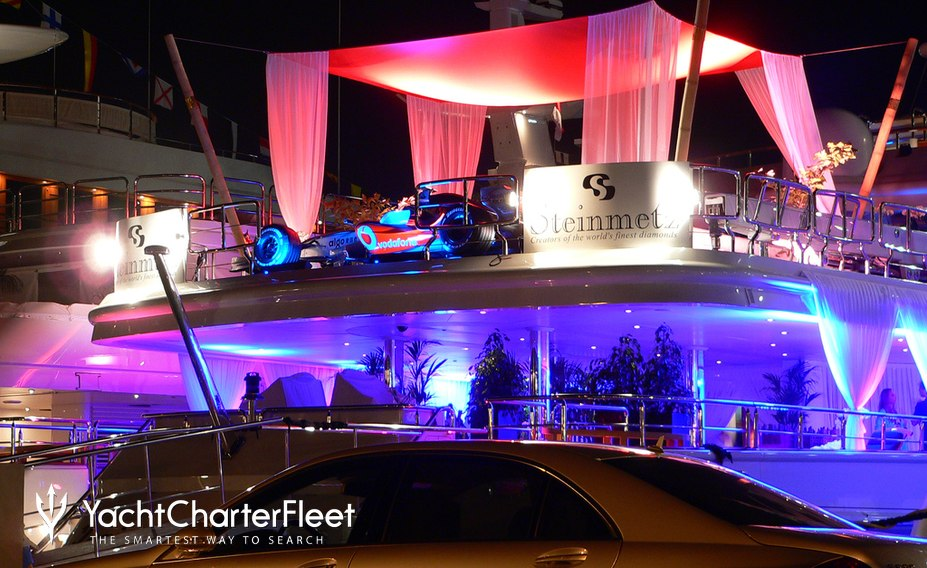 Party on board superyacht at Monaco Grand Prix