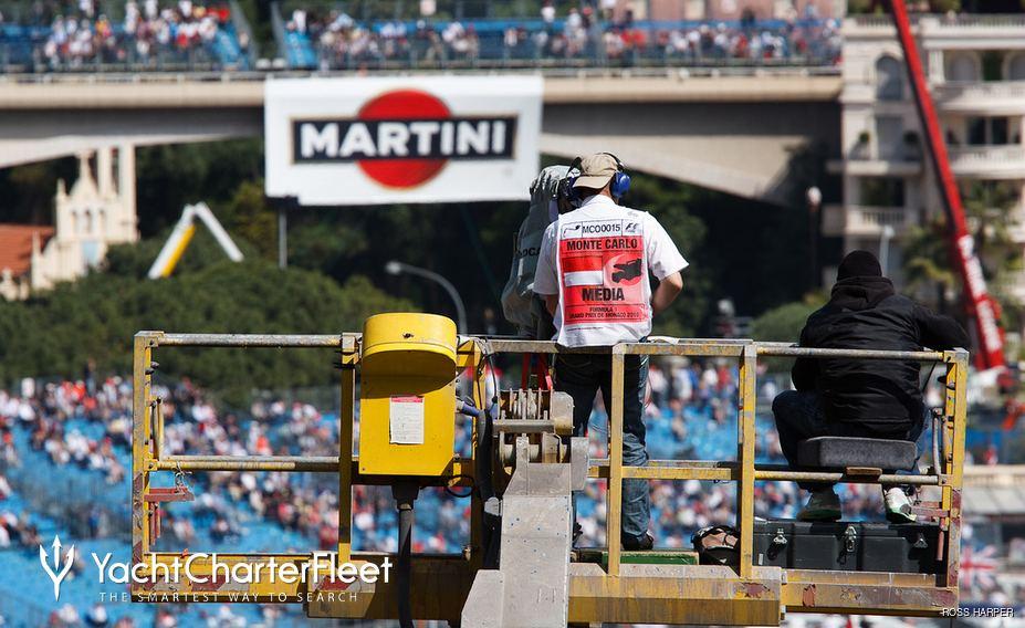 Monaco Grand Prix TV crew