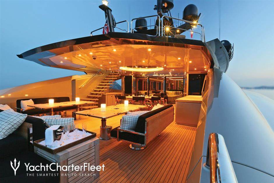 Aura yacht charter price palmer johnson luxury yacht charter for Migliori cabin charter in wisconsin