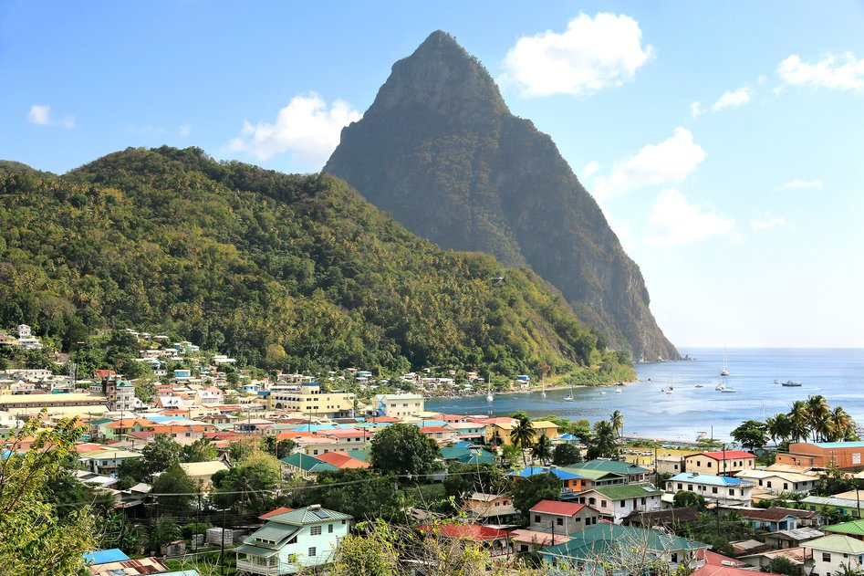 Soufriére Bay, St Lucia