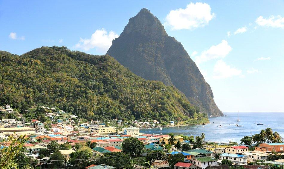Soufriére Bay, St Lucia