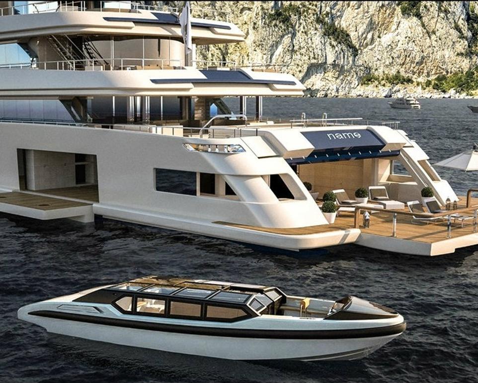 The Beach Club And Tender Of Superyacht Cloud 9 Yacht Charter Fleet